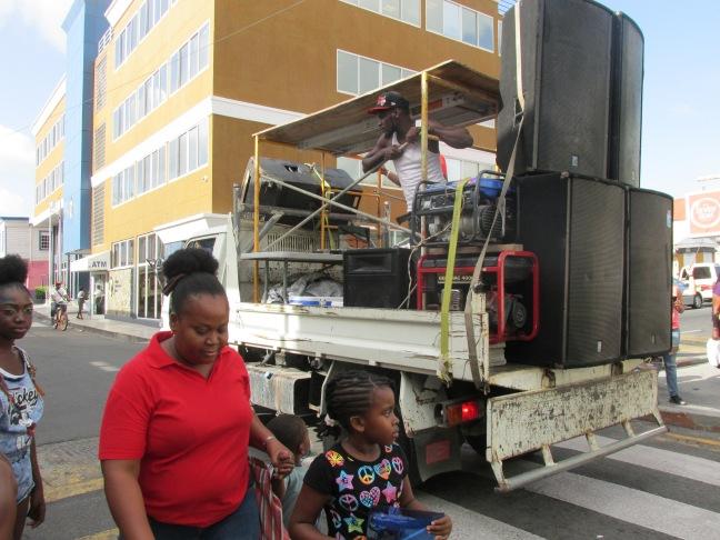 Trucks with speakers
