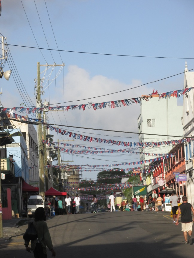 Antigua streets for carnival