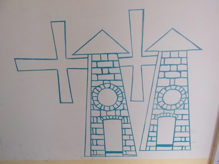 Betty's Hope windmills drawing