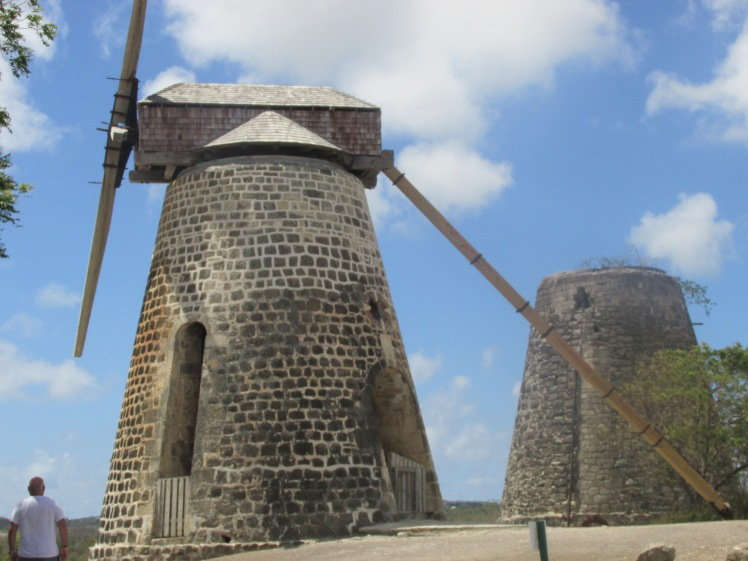 Windmills for processing the sugar cane