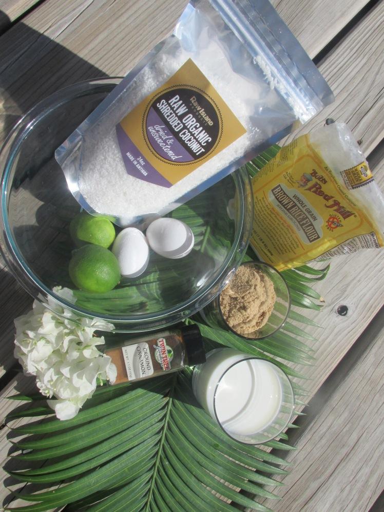Ingredients for Bill Granger's Coconut Bread