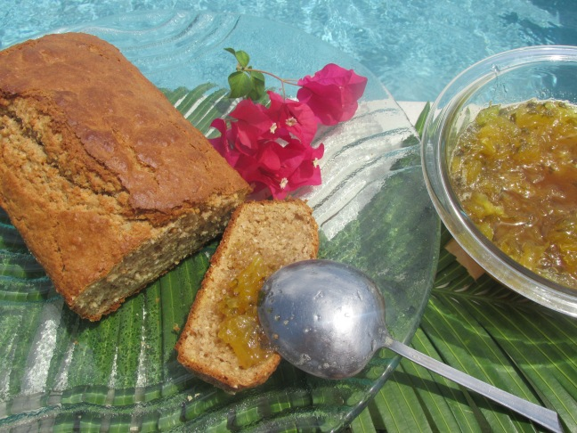 Served with Pineapple and Basil Jam