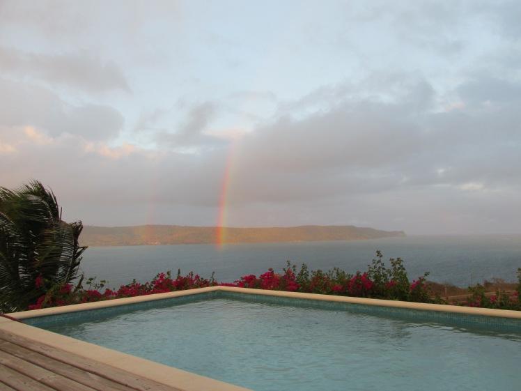 Double rainbow in Antigua