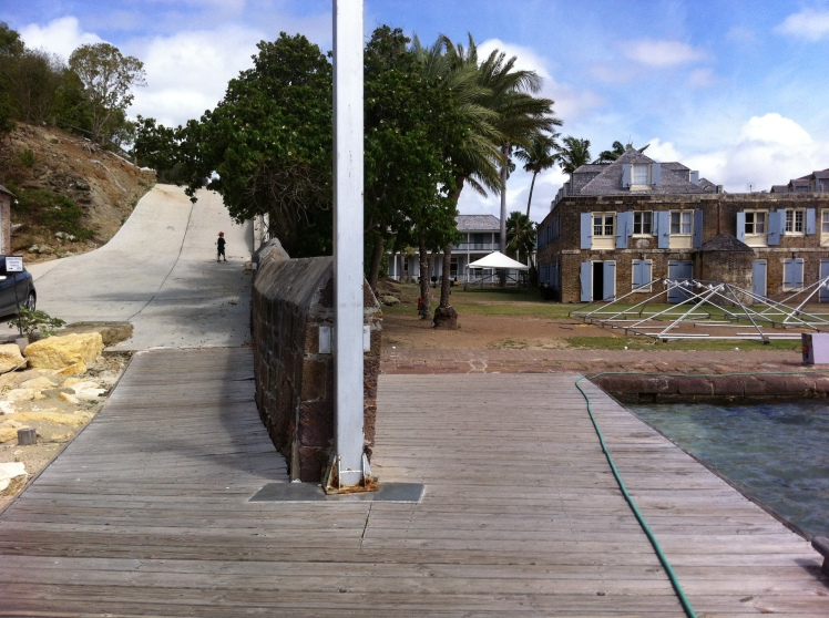 Start of the walking trail out of Nelson's Dockyard
