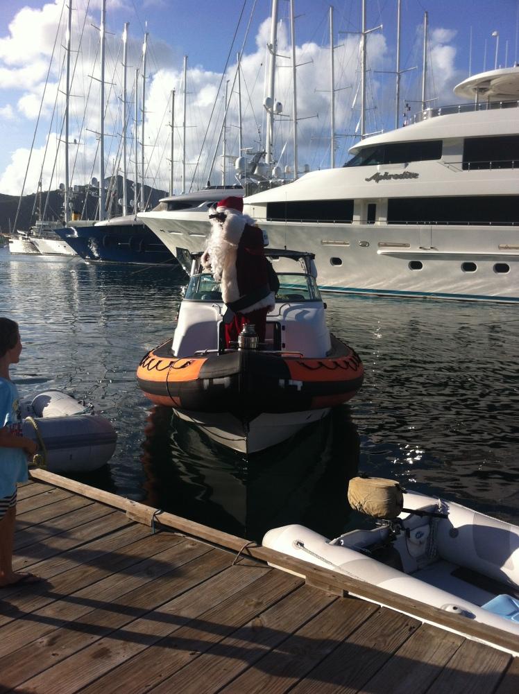 Santa by Speedboat