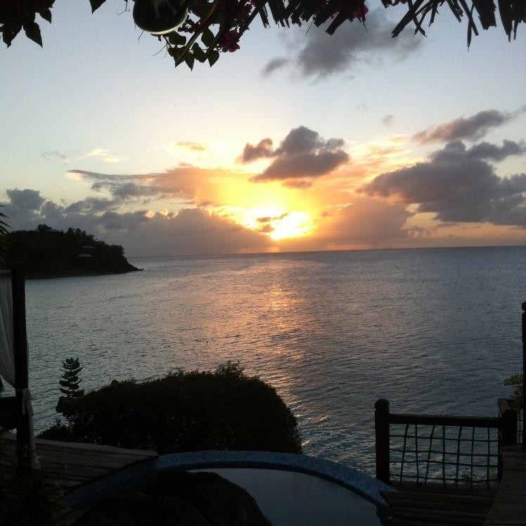 Sunset at Sheer Rocks, Antigua