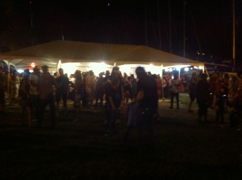 New Year's Eve party at Nelson's Dockyard, Antigua