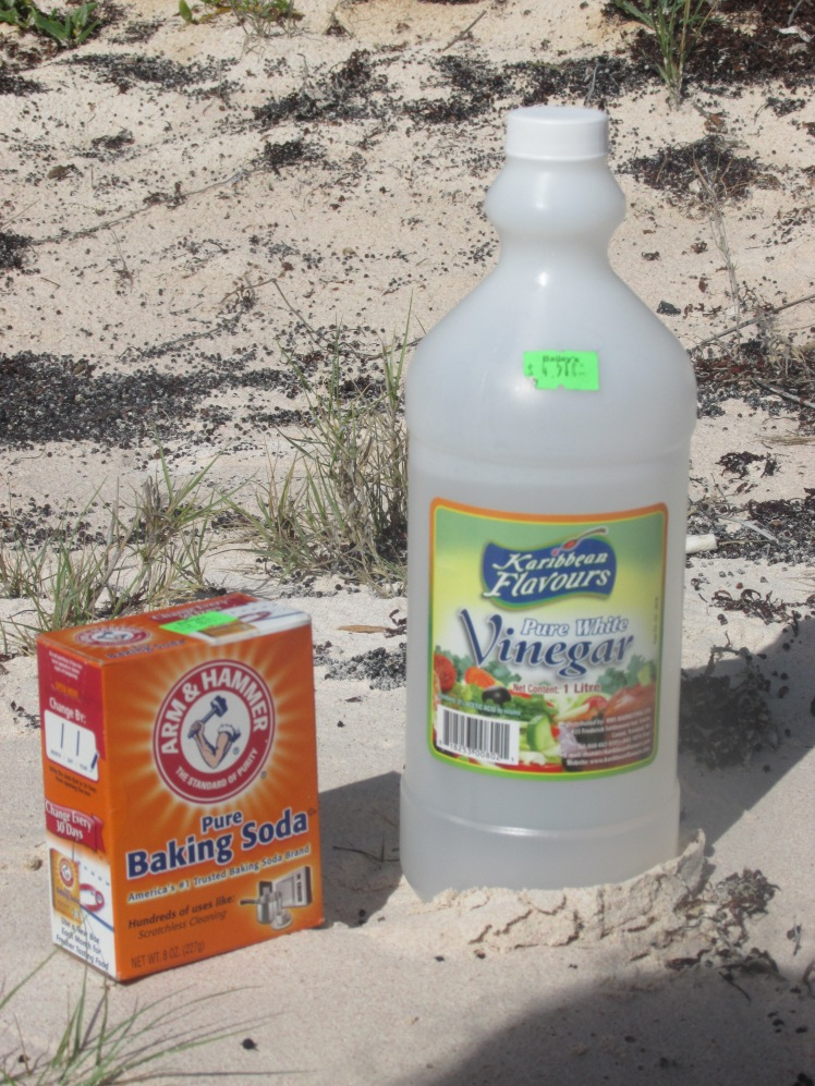 Ingredients for a beach volcano