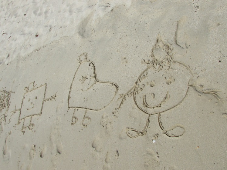 Mr Men Pop Art in the sand
