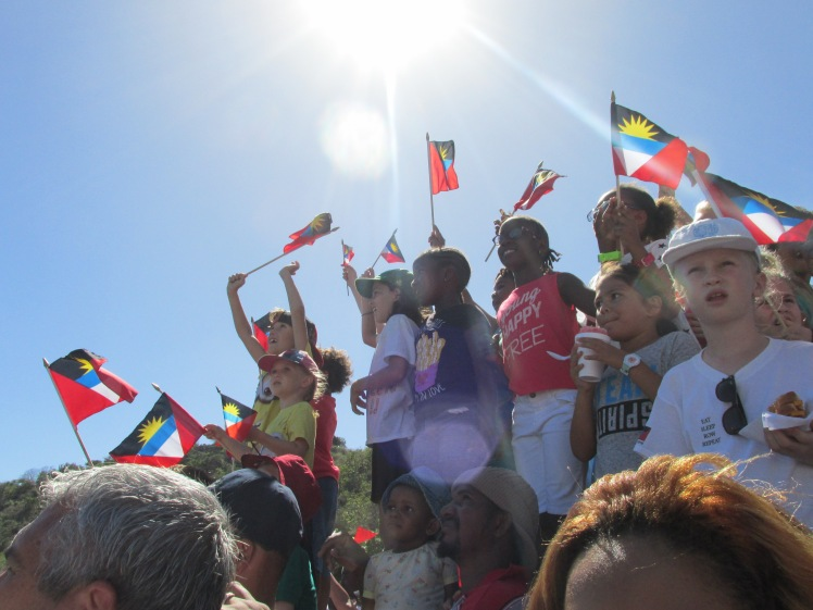Support for the arrival of the first ever team from Antigua