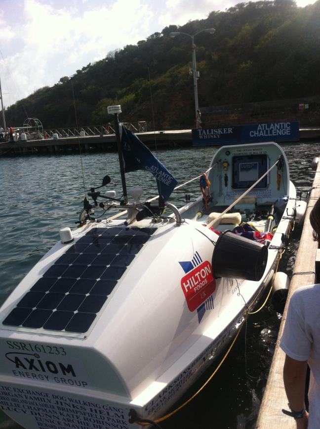 The winning boat of the Talisker Whisky Transatlantic Challenge 2015