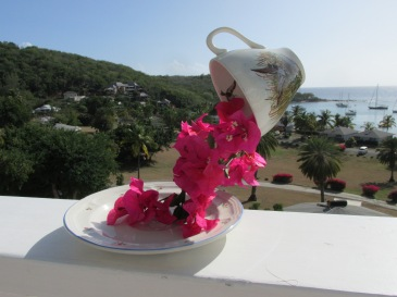 Floating teacup tutorial and table decoration, Antigua