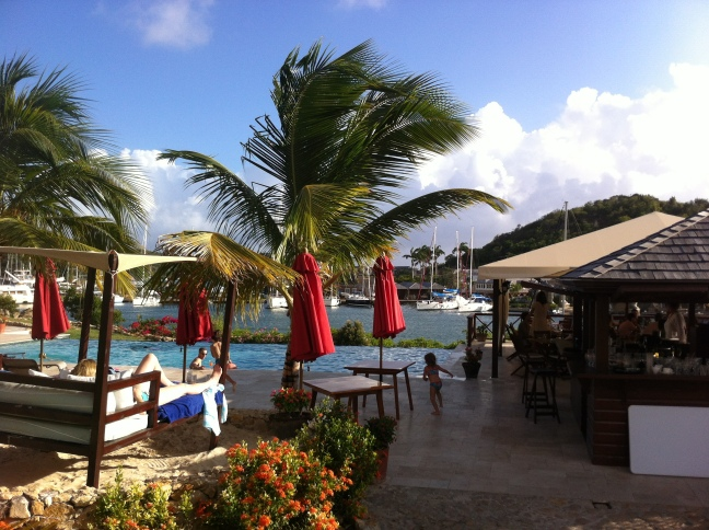 Boom at Admiral's Inn, Antigua