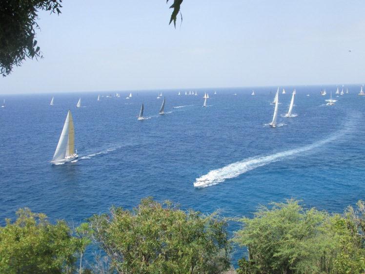 An oceanful of sailors at Antigua Sailing Week 2016