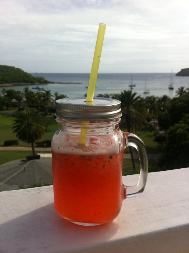 Strawberry and Mint Lemonade