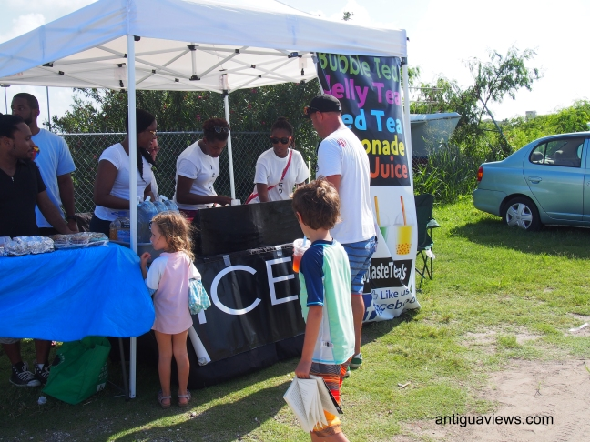 ICED stall at Dickenson Bay
