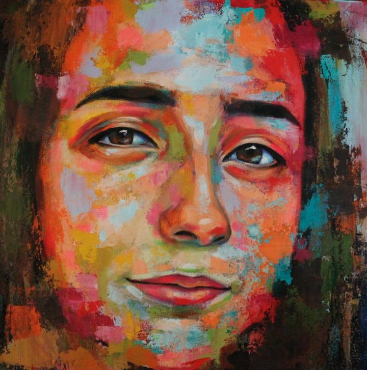 """Danya"" by Naydene Gonnella 18"" x 18"""