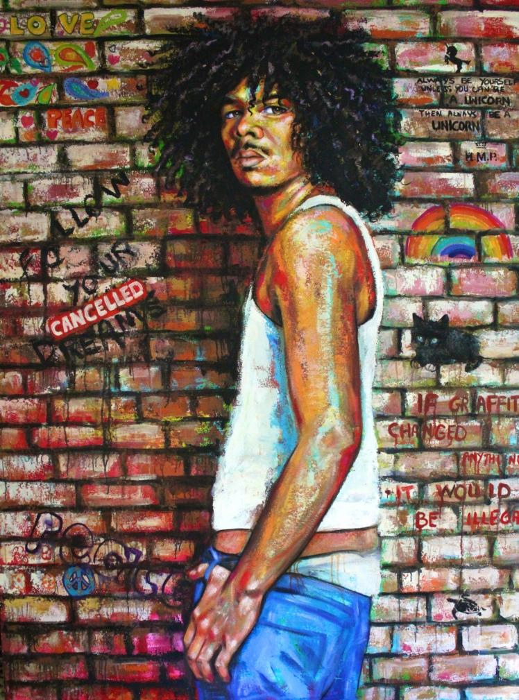 """Graffiti Artist"" by Naydene Gonnella. 54"" x 72"""