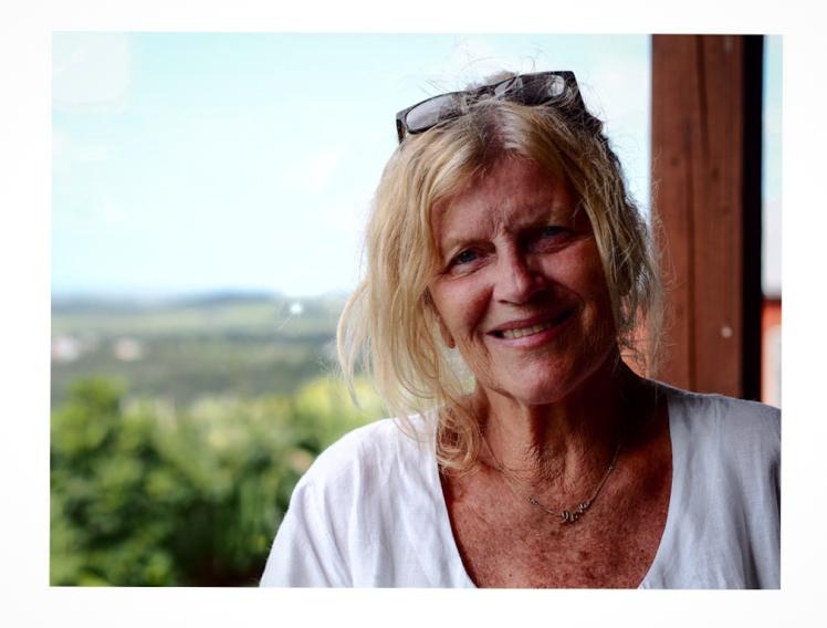 Jan Farara at her home studio in Antigua
