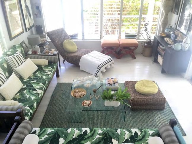 Living room in the home of designer Charmaine B. Werth