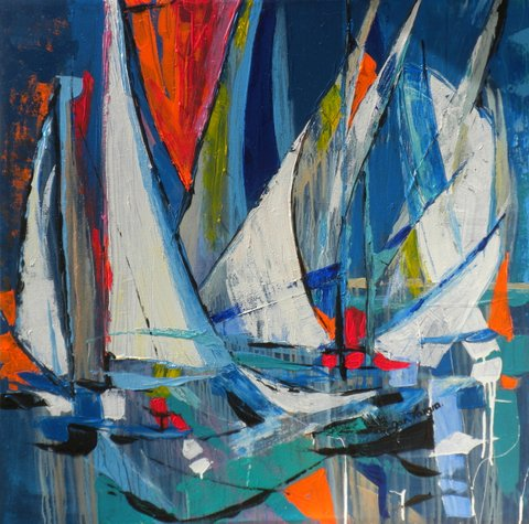 Yachts and sails by Jan Farara
