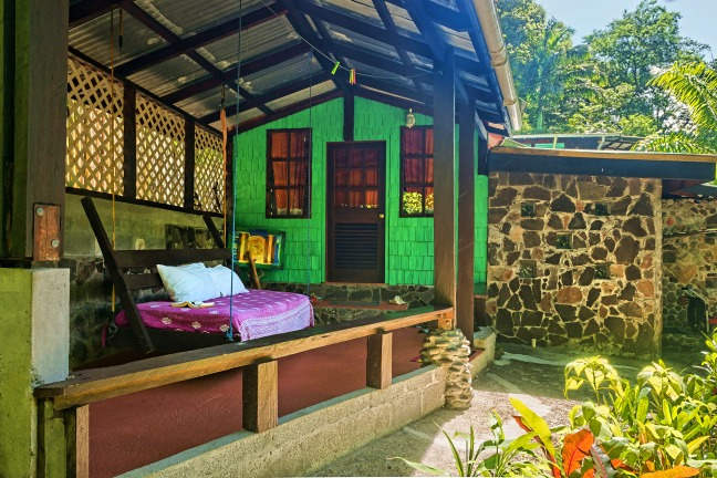 The perfect nook to read a book, Cocoa Cottages, Dominica