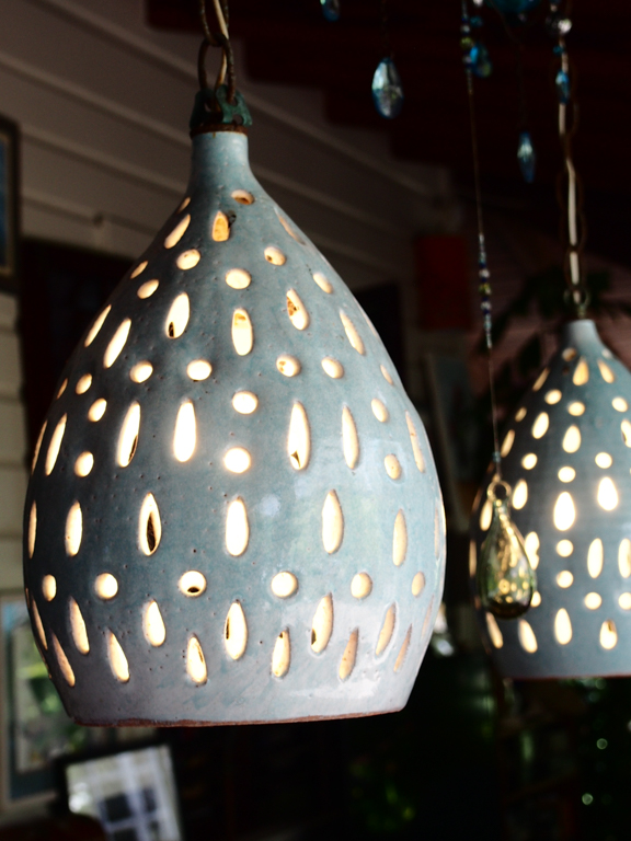 Light detail, Sarah Fuller Pottery, Antigua. Photo by Jennifer Ritchie.