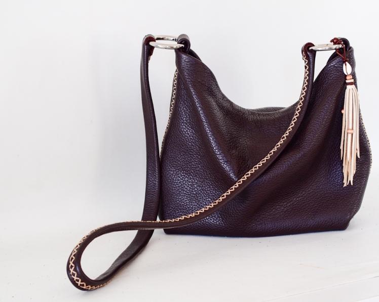 Tasseled handbag by Annalea Mills