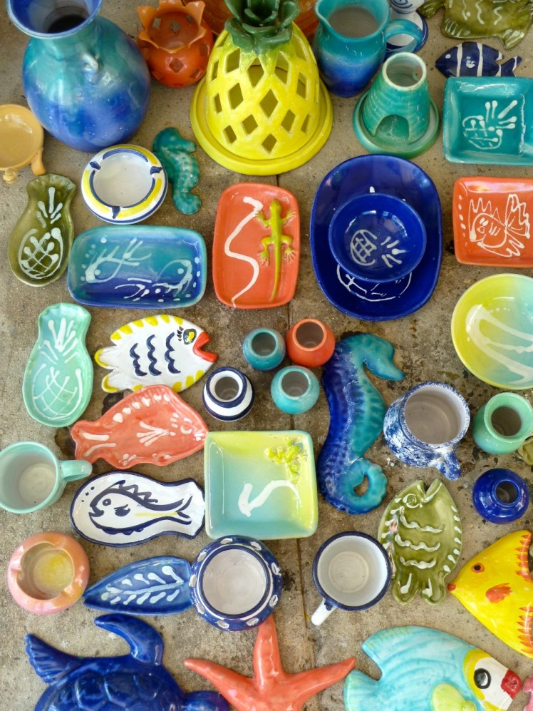 The colours and designs ofthe Caribbean reflected in Sarah Fuller Pottery, Antigua