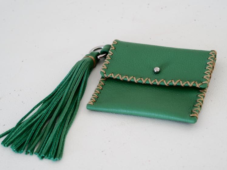Handmade leather wallet by Annalea Mills